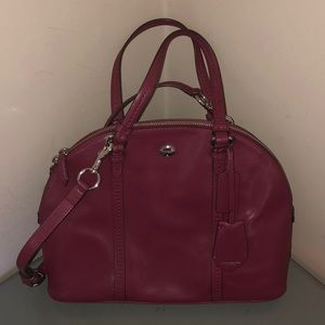 Coach saffiano leather domed satchel pink nice